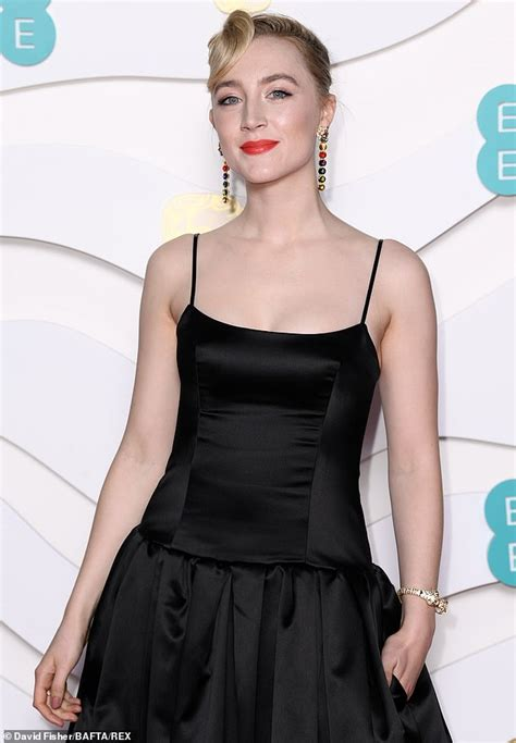 BAFTAs 2020: Chic Saoirse Ronan in black gown on red ...
