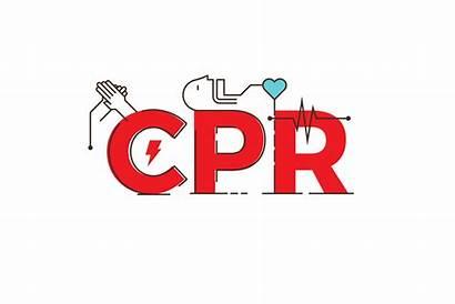 Cpr Training Word Illustration Vector Cardiopulmonary Resuscitation