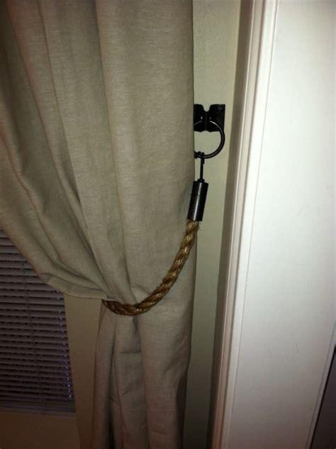 diy rope curtain tie backs with hardware curtain ideas