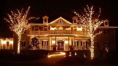 Christmas Desktop Decoration Houses Decor Holiday Wallpapers