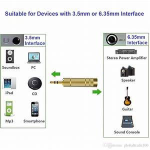 2020 3 5mm Male To 6 35mm Female Jack Audio Interface