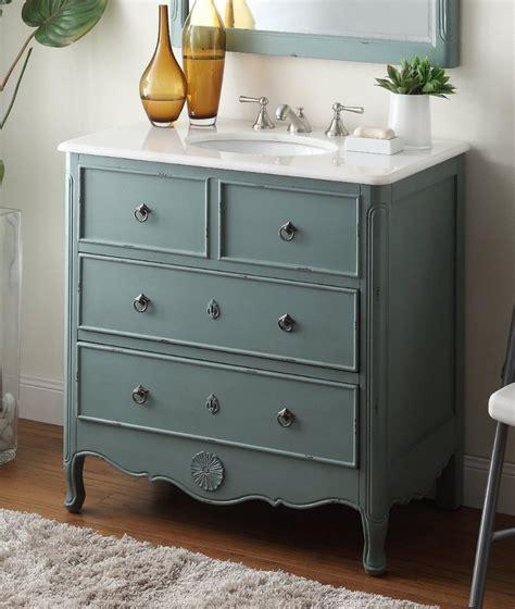 34 inch vanities for bathrooms 34 inch bathroom vanity cottage style vintage mint