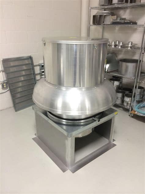 ventilation direct belt drive downblast exhaust fan