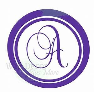 Monogram letters for wall single letter monogram wall for Custom wall letter stickers