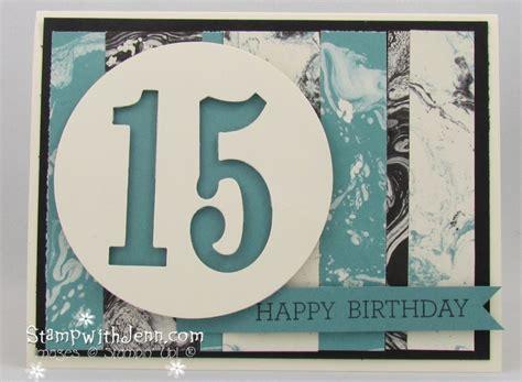 easy teenage boy birthday card stamp  jenn