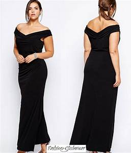 robe longue noire grande taille pas cher babb With robe noir grande taille