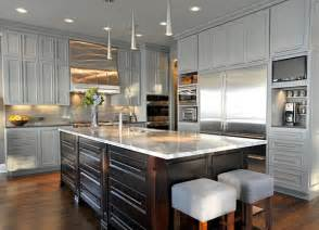 15 warm and grey kitchen cabinets home design lover - Kitchen Range Ideas