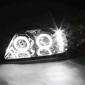 Spec-D® - Ford Mustang 2000 Chrome Halo Projector LED Headlights
