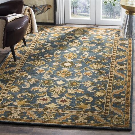 safavieh handmade exquisite blue gold wool rug     shipping today overstock