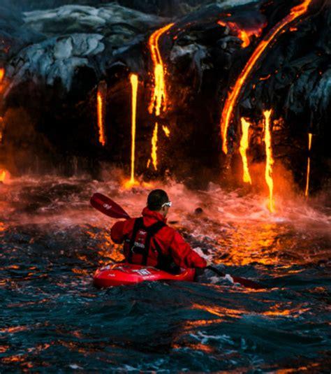 le a lave 1m hawa 239 des kayakistes de l extr 234 me explorent les flancs