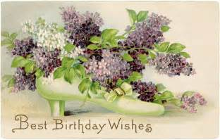 greeting cards for wedding wishes free vintage birthday card lilacs the graphics fairy