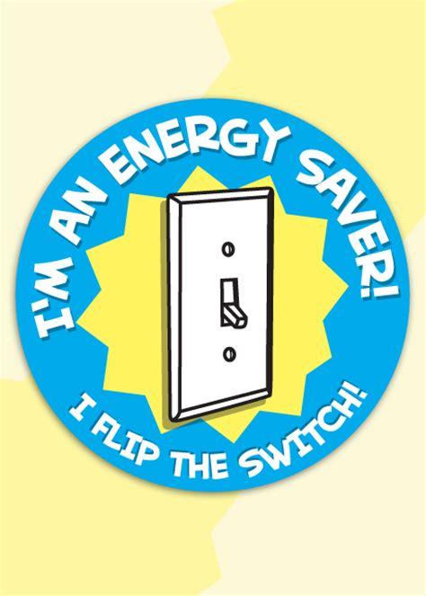 im  energy saver  flip  switch sticker roll project energy savers