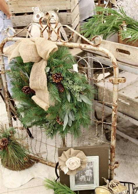 cheap rustic christmas decorations 40 comfy rustic outdoor christmas d 233 cor ideas digsdigs