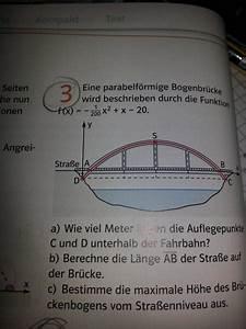 Höhe Vom Trapez Berechnen : parabel eine parabelf rmige bogenbr cke wird beschrieben durch die funktion f x 1 200 x x ~ Themetempest.com Abrechnung