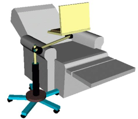 swing arm laptop table easychairworkstation com photos page