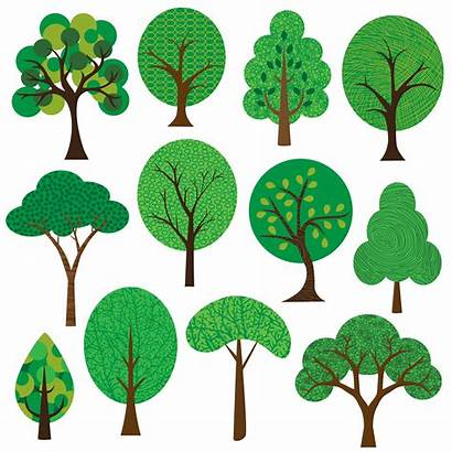 Clipart Trees Vector Textured Graphics Vectors