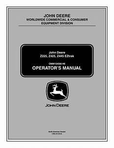 John Deere Z425 User Manual