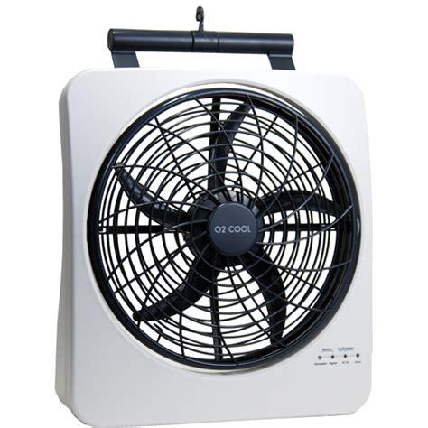 16 inch battery operated fan o2 cool 10 quot smart power rechargeable swivel fan walmart com