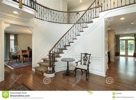 foyer  curved staircase stock image image