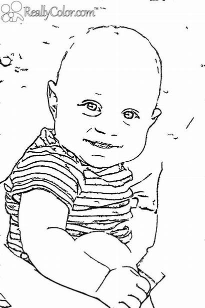 Coloring Pages Printable Newborn Boy Babies Boss