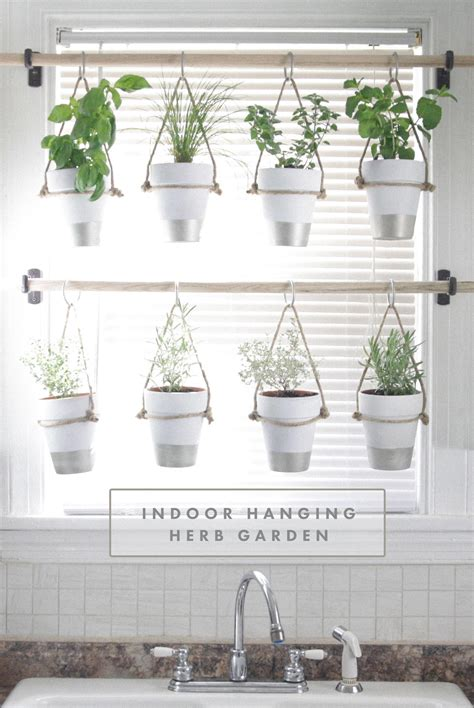 Window Spice Garden by Diy Indoor Hanging Herb Garden Learn How To Make An