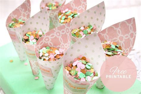 {free Printable} Biodegradable Confetti Cones And Diy