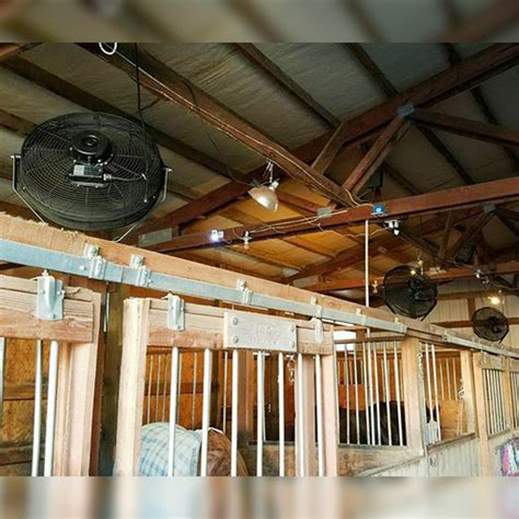 Agricultural Fans For Barns by 18 Quot Basket Fan Ramm Fencing Stalls