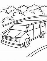 Van Coloring Pages Mini Minivan Vans Drawing Printable Getcolorings Getdrawings Print Cooper sketch template