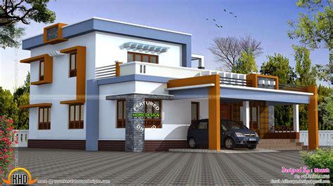box type house exterior elevation kerala home design  floor plans  houses