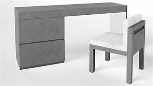 Coiffeuse Bureau Design Crystalline Beton Mobilier Moss