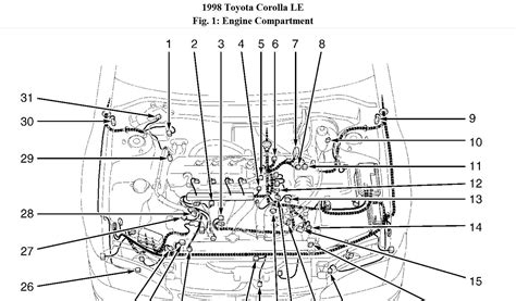 98 Corolla Engine Diagram by Where Is The Location For A 1998 Toyota Corolla Camshaft