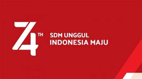 logo resmi peringatan hut   kemerdekaan ri file foto resolusi besar tribun jogja