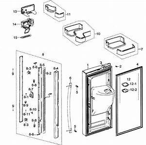 Left Door Diagram  U0026 Parts List For Model Rfg297aapnxaa