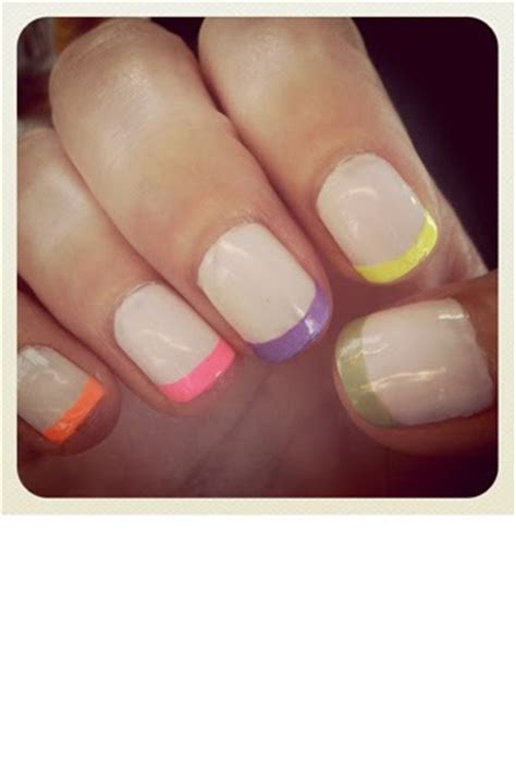 parlour  loot wanted neon pastel french manicure