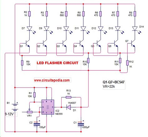 Led Flasher Circuit Diagram With How Make