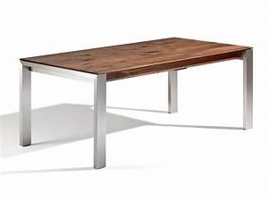 Esstisch Ausziehbar Metallgestell : massivholztisch amalfi mit gestell aus alu oder edelstahl ~ Markanthonyermac.com Haus und Dekorationen