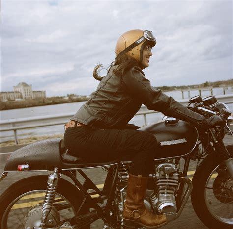 mindi  honda cafe racer moto lady