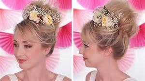 coiffure mariage facile à faire soi même fleurs naturelles - Coiffure Mariage Facile