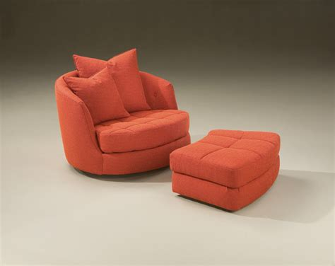 tub swivel chair and ottoman by milo baughman from