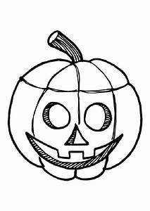 Tete De Citrouille Pour Halloween : coloriage halloween citrouille sourire sur ~ Melissatoandfro.com Idées de Décoration