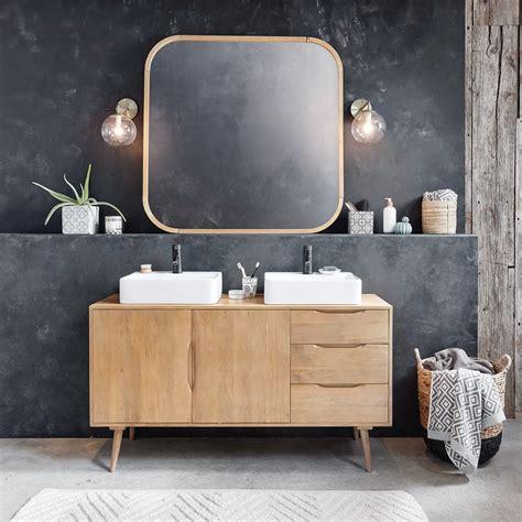 meuble double vasque  tiroirs en manguier massif trocadero maisons du monde