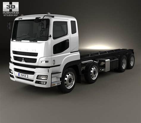 mitsubishi truck mitsubishi fuso heavy chassis truck 2017 3d model hum3d