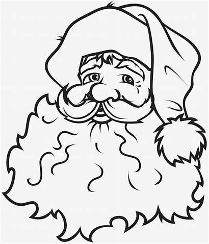 Claus Santa Coloring Pages Christmas Clipart Outline