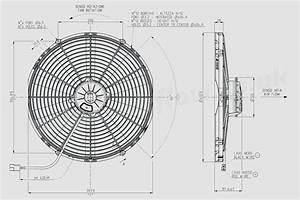 30102688 Spal 16 U0026quot   407mm  Cooling Fan Va18 Ll