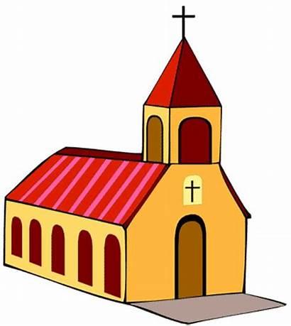 Church Clip Clipart Cartoon Cliparts Catholic Roman