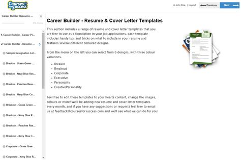 Career Builder Resume Template by Career Builder Library Overview
