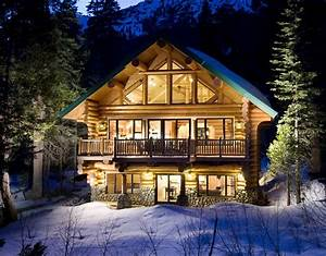 Log Cabin Winter Wallpapers