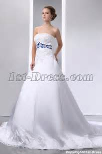 royal blue dress for wedding special ivory and royal blue satin a line wedding dress 1st dress