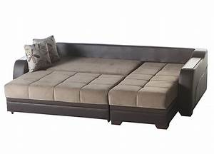 2 piece ultra sectional sofa sleeper with storage o usa With sectional sofa with 2 recliners and sleeper