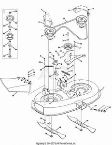 Troy Bilt 13av77kf066 Tuffy  2010  Parts Diagram For Mower